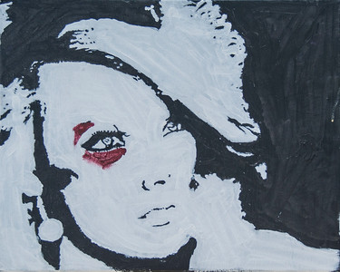 "10.""Portait of Rhianna"" Acrylic on Canvas 20""x16"""