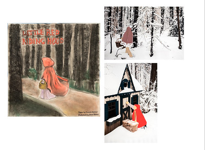 "16_Gichner_Book cover and pages_""Little Red Riding Hood"""