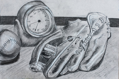 4 Thomas_Baseball Glove Ball and Clock""
