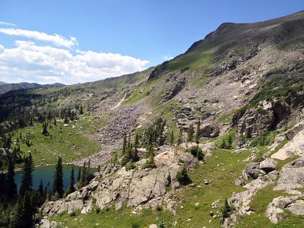 Looking down at Fancy Lake