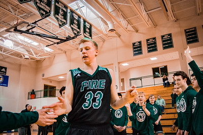 Holy Family Boys Basketball Section Quarterfinal vs. Watertown Mayer Mar 7, 2019: Reid Stark '19 (33)
