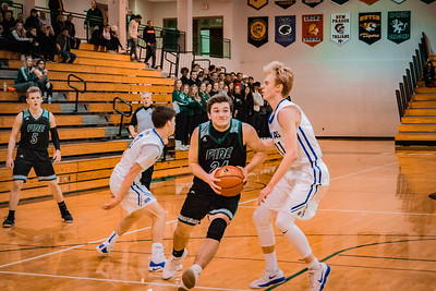Holy Family Boys Basketball Section Quarterfinal vs. Watertown Mayer Mar 7, 2019: Ryan Bowlin '19 (24)