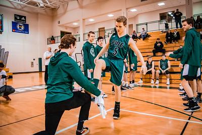 Holy Family Boys Varsity Basketball vs. Annandale Dec 20, 2018: Nick Hendler '20 (5)