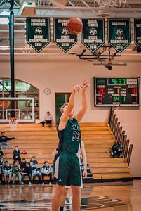 Holy Family Boys Varsity Basketball vs. Annandale Dec 20, 2018: Reid Stark '19 (33)