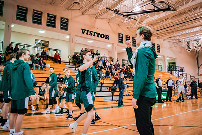 Holy Family Boys Varsity Basketball vs. Annandale Dec 20, 2018: Jacob Zay '19 (3)