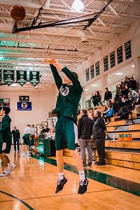 Holy Family Boys Varsity Basketball vs. Annandale Dec 20, 2018: Danny Schneider '19 (4)