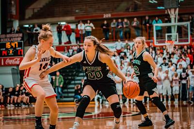 Holy Family Girls Basketball Section Final vs. Annandale Mar 8, 2019: Leigh Steiner '19 (20)