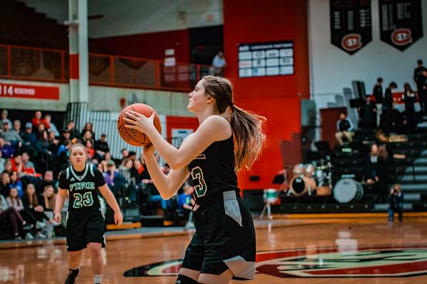 Holy Family Girls Basketball Section Final vs. Annandale Mar 8, 2019: Allie Jansen '20 (13)