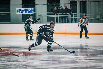 Holy Family Boys Varsity Hockey Section Playoff vs. Prior Lake  Feb 21, 2019: Logan Paulsen '23 (13)