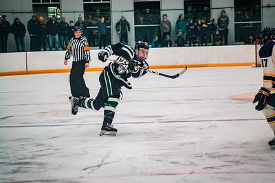 Holy Family Boys Varsity Hockey Section Playoff vs. Prior Lake  Feb 21, 2019: Captain Michael Spinner '19 (20)