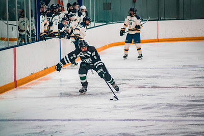 Holy Family Boys Varsity Hockey Section Playoff vs. Prior Lake  Feb 21, 2019: Ben Reddan '21 (6)
