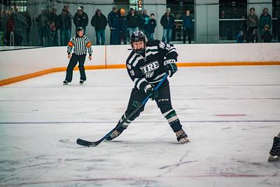 Holy Family Boys Varsity Hockey Section Playoff vs. Prior Lake  Feb 21, 2019: Nick Blood '22 (19)