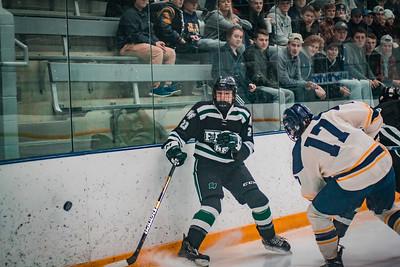 Holy Family Boys Varsity Hockey Section Playoff vs. Prior Lake  Feb 21, 2019: Luke Roelofs '21 (23)