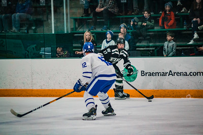 Holy Family Boys Varsity Hockey Section Playoff vs. Minnetonka Feb 23, 2019: Cole Wilson '19 (17)