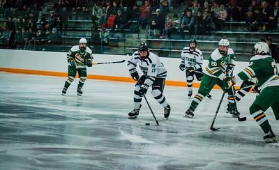 Holy Family Boys Varsity Hockey vs. Edina Nov 23, 2018: Cole Wilson '19 (17)