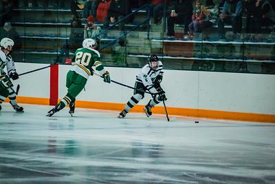Holy Family Boys Varsity Hockey vs. Edina Nov 23, 2018: Trey Fechko '22 (5)