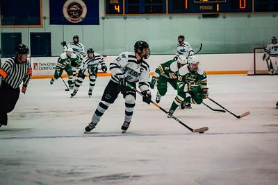 Holy Family Boys Varsity Hockey vs. Edina Nov 23, 2018: Captain Dan Reddan '19 (4)