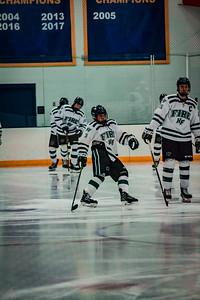 Holy Family Boys Varsity Hockey vs. Edina Nov 23, 2018: Sawyer Schugel '19 (3)