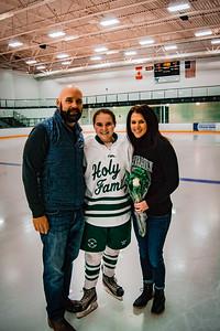 Holy Family Girls Varsity Hockey vs. New Prague Jan 22, 2019: Mya Braun '19