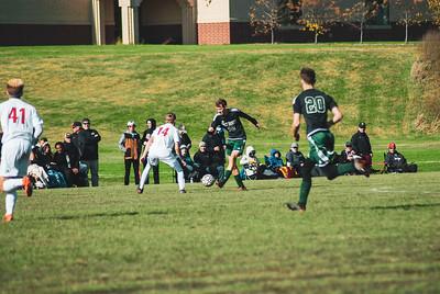 Holy Family Varsity Soccer vs. Mound Westonka Oct 13, 2018: Zyler Niece '19 (22)