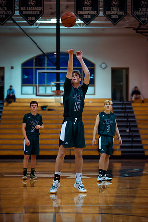 Holy Family Boys Varsity Basketball vs. Brooklyn Center, 12/5/19: Gavin Lund '21 (11)