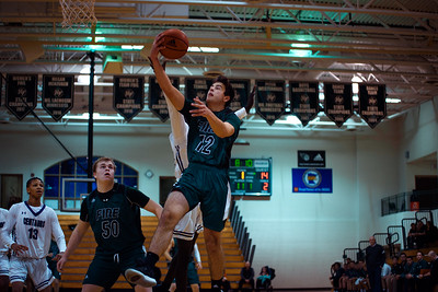 Holy Family Boys Varsity Basketball vs. Brooklyn Center, 12/5/19: Jake Kirsch '21 (12)