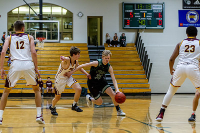 Holy Family Varsity Boys Basketball vs. Jordan, 1/23/20: Noah Seck '21 (30)