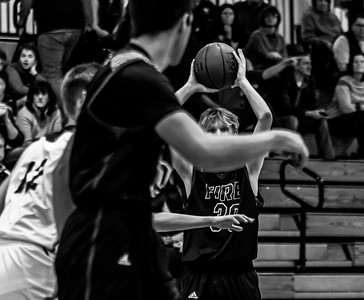 Holy Family Varsity Boys Basketball vs. Jordan, 1/23/20: Noah Seck '21 (30)