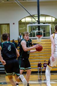 Holy Family Varsity Boys Basketball vs. Jordan, 1/23/20: Seth Thompson '20 (50)