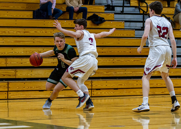 Holy Family's Nick Hendler '20 (5) vs. New Prague - Collin Nawrocki/The Phoenix
