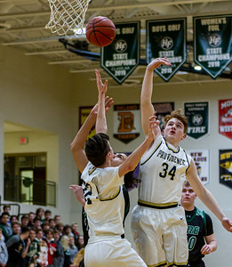 Holy Family's Boden Kapke '23 (42) vs. Providence Academy  at Section 5AA Round of 16 - Collin Nawrocki/The Phoenix