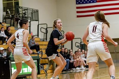 Holy Family Varsity Girls Basketball vs. Delano, 1/10/20: Captain Grace Elander '20 (12)
