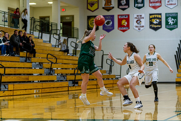 Holy Family's Lucy Hertel '22 (33) vs. Maple Lake at Section 5AA Round of 16 - Collin Nawrocki/The Phoenix
