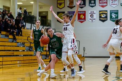 Holy Family Varsity Girls Basketball vs. New Prague, 1/24/20: Lucy Hertel '22 (33)