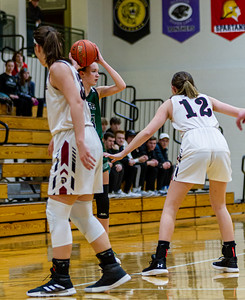 Holy Family Varsity Girls Basketball vs. New Prague, 1/24/20: Sophia Hall '23 (13)