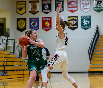 Holy Family Varsity Girls Basketball vs. New Prague, 1/24/20: Lucy Hertel '22 (33)