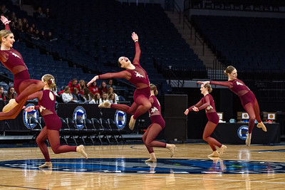 Holy Family's Kaili Palattao '20 at 2020 MSHSL State Jazz Tournament Prelim - Collin Nawrocki/The Phoenix