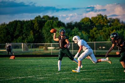 Holy Family Varsity Football vs. Dassel-Cokato, 9/6/19: Captain Nate Tinucci '20 (1)
