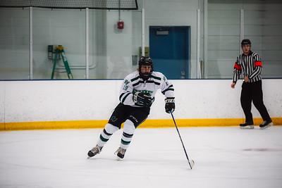 Holy Family Boys Varsity Hockey vs. Benilde-St. Margaret's, 12/26/19: Nick Blood '22 (19)