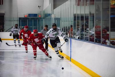 Holy Family Boys Varsity Hockey vs. Benilde-St. Margaret's, 12/26/19: Lucas Jorgenson '20 (16)