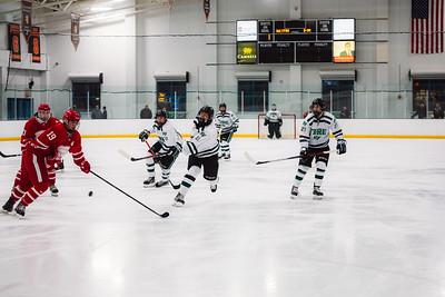 Holy Family Boys Varsity Hockey vs. Benilde-St. Margaret's, 12/26/19: Luke Roelofs '21 (11)