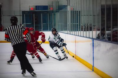 Holy Family Boys Varsity Hockey vs. Benilde-St. Margaret's, 12/26/19: Tyler Heise '22 (25)