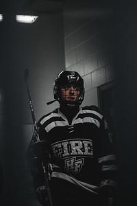 Holy Family Boys Varsity Hockey vs. Elk River, 12/27/19: Alex Pellicci '21 (35)