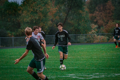Holy Family Boys Varsity Soccer Section 6A Quarterfinal vs. Monticello, 10/10/19: Finn Dowling '21 (7)