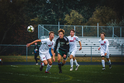 Holy Family Boys Varsity Soccer Section 6A Quarterfinal vs. Monticello, 10/10/19: Ben Creager '20 (10)