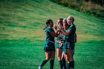 Holy Family Girls Varsity Soccer vs. DeLaSalle, 8/22/19: Mimi Pavelka '22 (15)