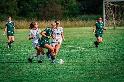 Holy Family Girls Varsity Soccer vs. DeLaSalle, 8/22/19: Maeve Kelly '22 (14)