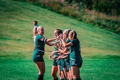 Holy Family Girls Varsity Soccer vs. DeLaSalle, 8/22/19: Maggie Rothstein '20 (18)