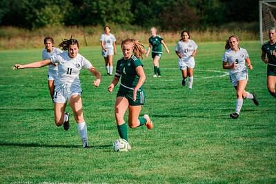 Holy Family Girls Varsity Soccer vs. DeLaSalle, 8/22/19: Ella Haley '20 (4)
