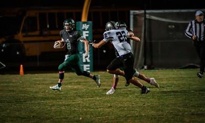 Holy Family Football lost to Glencoe-Silver Lake 42-8 Thursday October 15, 2020 at Holy Family Catholic High School. Collin Nawrocki / The Phoenix